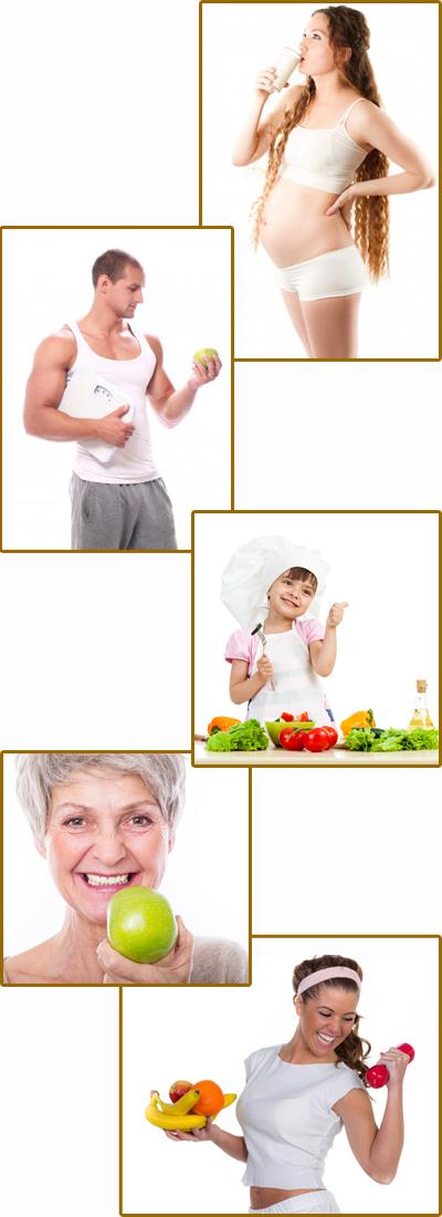 profili nutrizionali in condizioni fisiologiche